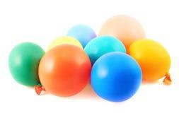 堆五颜六色的气球 免版税库存图片