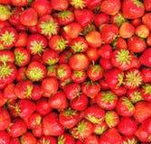 堆作为背景的新鲜的草莓 库存图片