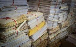 堆使用的纸 免版税图库摄影