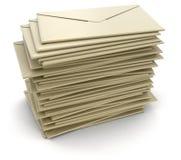 堆信件(包括的裁减路线) 免版税库存照片