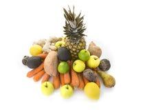 堆健康新有机果子和veg 库存照片