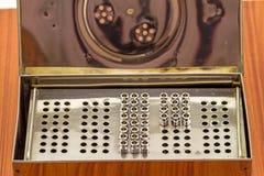 堆再用没有铁的针 18 G在蒸汽ster的药物针的 库存图片