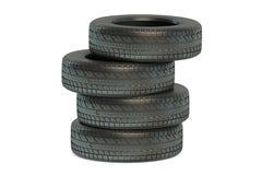 堆冬天汽车轮胎 免版税库存照片