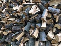 堆分裂木柴 库存图片