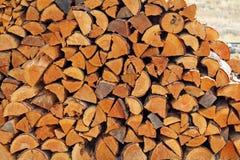 堆分裂木柴 免版税库存照片