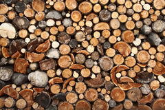 堆切好的火木头 库存照片