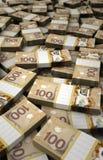 堆加拿大元 免版税库存图片