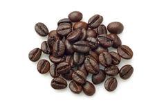 堆咖啡豆(粗粒咖啡) 免版税库存照片