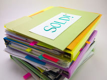 堆商业文件;卖 免版税库存图片