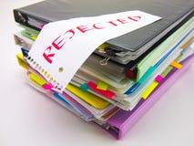 堆商业文件;拒绝 图库摄影