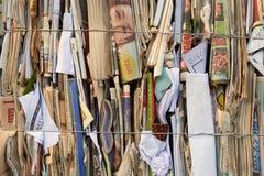 堆回收的纸 免版税库存图片