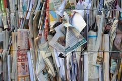 堆回收的纸 库存图片
