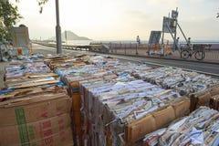 堆回收的纸 图库摄影