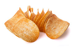 堆土豆片 免版税库存图片