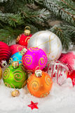 堆圣诞节球 免版税库存图片