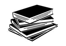 堆在平的样式象充分的可重新调整的编辑可能的传染媒介的书 库存例证