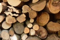 堆在日志的木头 免版税库存图片