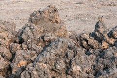 堆在建造场所的土壤 免版税库存照片