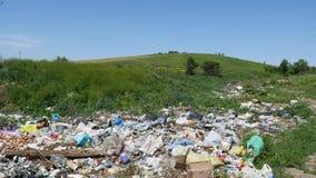 堆垃圾露天 库存图片