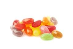 堆多个软心豆粒糖糖果 免版税库存照片
