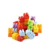 堆多块玩具砖 免版税图库摄影