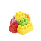 堆多块玩具砖 库存照片