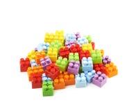堆多块玩具砖 图库摄影
