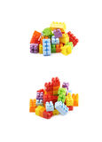堆多块玩具砖 库存图片