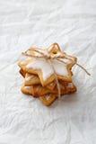 堆姜饼xmas星曲奇饼 库存图片