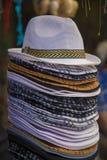 堆帽子 免版税库存照片