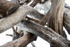 堆干燥木头 免版税库存图片