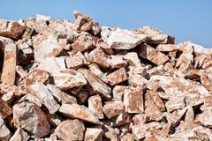 堆建筑的岩石 图库摄影