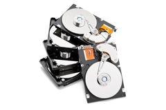 堆开放harddrives 免版税库存照片