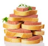 堆开胃三明治 免版税图库摄影