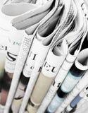 堆报纸,选择聚焦 库存图片