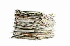 堆报纸 免版税图库摄影