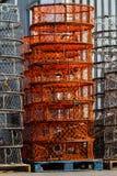 堆捕蟹篓 免版税库存图片