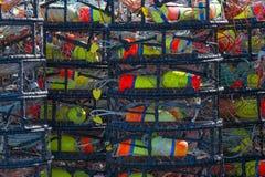 堆捕蟹篓 库存照片