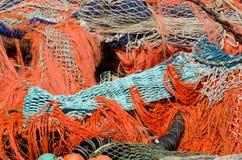 堆捕鱼网 免版税库存照片
