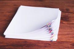 堆文件夹 对一个清白历史概念的恐惧 免版税图库摄影