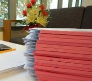 堆文件和报告 免版税库存图片