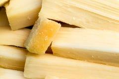 堆新伐甘蔗 免版税图库摄影