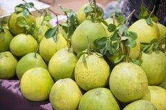 堆新鲜的葡萄柚 库存图片