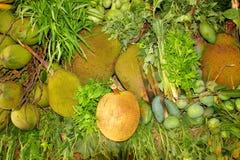 堆新鲜的水果和蔬菜 库存图片