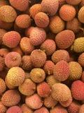 堆新鲜的lychee 免版税库存照片