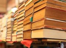 堆旧书待售 图库摄影