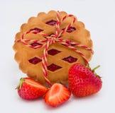 堆曲奇饼用果酱 免版税图库摄影