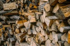 堆木柴,干燥木柴背景 库存图片