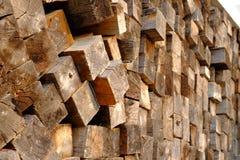堆木纹理 免版税库存照片
