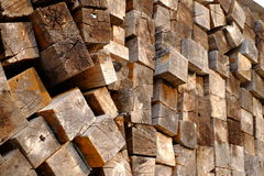 堆木纹理 免版税库存图片